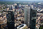 Germany, Hessen, Frankfurt am Main, downtown, general aerial view