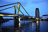 Germany, Hessen, Frankfurt am Main, bridge of the Main river