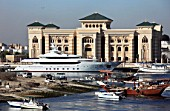United Arab Emirates, Sharjah, Creek, government buildings, boats,