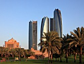 United Arab Emirates, Abu Dhabi, Etihad Towers,