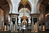United Arab Emirates, Abu Dhabi, Sheikh Zayed bin Sultan al-Nahyan Mosque, interior,