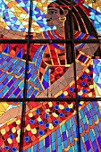United Arab Emirates, Dubai, Wafi Mall, stained glass window,