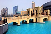 United Arab Emirates, Dubai, Downtown Dubai, bridge.