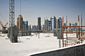 Construction of monorail station, Dubai, UAE