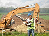 Ecologist Near Construction Site