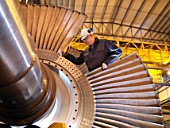 Engineer Working On Turbine
