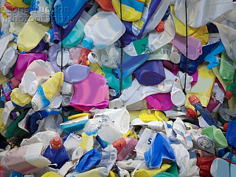 Plastic Containers In Recycle Plant