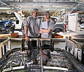 Car Plant Workers In Factory