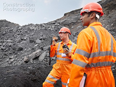 Coal Miners With Walkie Talkie