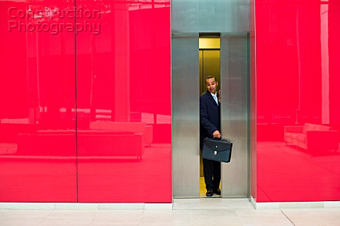 Businessman Trapped in Elevator