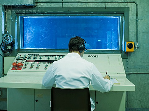 Scientist in Control Room