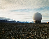 Arctic research station, mountains