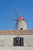 old windmill on the salines near trapani