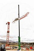 Dismantaling the tower crane
