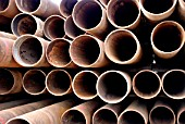Scrap drill casings from the oil industry make perfect pilings for this project and is an exelent way of recycling