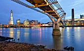 Millennium Bridge across the Thames to The Tate Modern