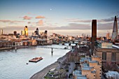 View across the Thames to The City from Southwark