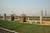 New construction on the Zhengzhou to Xian High Speed line. 27th February 2010.