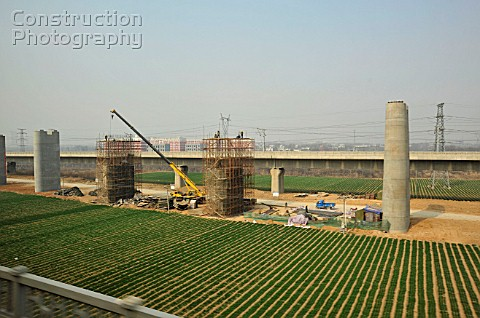 New construction on the Zhengzhou to Xian High Speed line 27th February 2010
