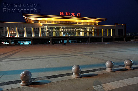 Luoyang station on the Zhengzhou to Xian High Speed line China 27th February 2010