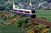 The Coradia Class 175 units are common on the North Wales Coast such as this scene at Valley where a Crewe - Holyhead service wends its way westwards.