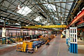 The assembly lines at Alstoms Washwood Heath factory in Birmingham after the last of Virgins 53 Pendolinos had been completed. Monday 8th October 2004.