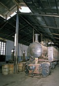 The rebuilding of Eritreas railway between Masawa on the Red Sea Coast and Asmara the capital, following 30 years of abandonment and Civil war, was little short of miracle. This scene of the steam depot in Asmara in 1998 shows an 0-4-4-0T Compound Mallet No.442 56 built by the Italian builder Ansaldo in 1938. A picture made on Saturday 14 March 1998.