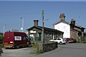 Frontage and car parking at Velley station, Anglesey. 2007