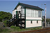 The signal box at Valley station, Anglesey. 2007