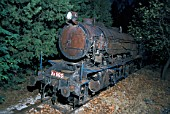 In August 1982 the steam locomotive dump at Tithorea in Greece contained former British War Department 2-10-0 No,964 which was built by the North British Works of Glasgow as their No.25468 in 1944.
