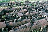 Locomotive Graveyard. The huge dump of Greek Steam Locomotives at Thessaloniki contained many historic locomotive types and this study dated Monday 30 August 1982 includes Golsdorf type 0-10-0s 2-10-0s, American United States Army Transportation Corps S160 2-8-0s.