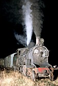 Night shunting at Olavarria with Argentinean Railways 11B Class 2-8-0 No.4199 built by Vulcan Foundry Lancs in 1931 for the Buenos Aires & Great Southern Railway.