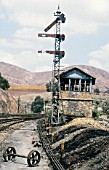 Zerandus Norte signal box on the abandoned Rio Tinto system in Southern Spain, Saturday 9th May 1987.
