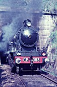 Easter specials in the Douro Valley headed by a 56 gauge Portuguese Railways 2-6-4T on Saturday 10th April 1970.