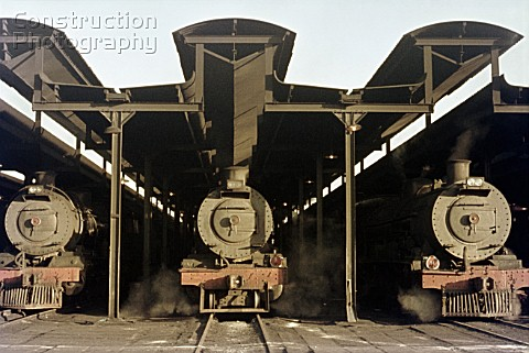 Motive Power depot atmosphere South Africa 1973
