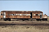 A steam railcar built by Clayton of Lincoln for the Sudan lies out of use at Damazeen on Wednesday 12th January 1983.