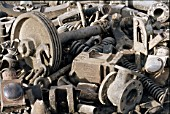 Locomotive scrap montage at Sennar Junction locomotive shed in th Sudan on Monday 10th January 1983.