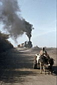 A dramatic scene at km7 on the Sudan Railways line from Kosti- Knana with 500 Class 8-8-2 No. 541 on Saturday 22nd January 1983.