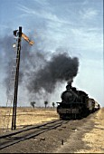 Sudan Railways Pacific No. 249 heads along the line from Sennar Junction - Damazeen on Tuesday 11th January 1983.
