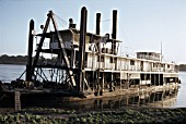 A magnificent Egyptian Nile Paddle Steamer at the Sudan River Authority Khartoum having come up for repairs from south of Malakal. The Paddle Dredger was No. 495 built on the River Clyde by Wm Simons of Renfrew. Picture dated Thursday 23rd December 1982.