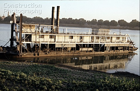 A magnificent Egyptian Nile Paddle Steamer at the Sudan River Authority Khartoum having come up for