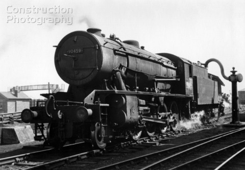 War department Austerity 280 No 90459  at West Hartlepool shed 773 of these locomotives roamed Brita