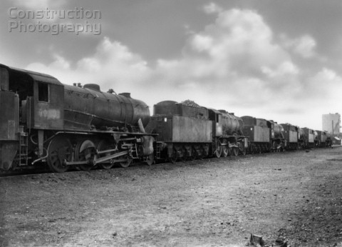 Doncaster shed on a Sunday afternoon in the early 1960s with a line up of different ex War Departmen