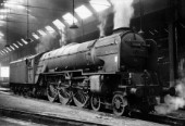 The roundhouse at Leeds Neville Hill with A1 Pacific No 60118 Archibald Sturrock. This engine was one of the last surviving A1 not being Withdrawn until September 1965. No 60118  was broken up by Wards of Brighton Sheffield the following December.