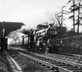 Castle Class No 7029 Clun Castle approaches Milepost 92 ½ on the Midland Main Line with an Ian Allen special in 1963.