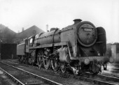 BR Standard Clan Class Pacific No 72007 Clan Mackintosh at Carlisle Kingmoor depot in 1965.