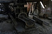Brick making machinery at the abandoned Ledo brickworks in March 2007.
