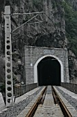 Building Chinas new railway between Chongqing and Huaihua. Aspects of the new railway between Wulong and Baima. August 2005.