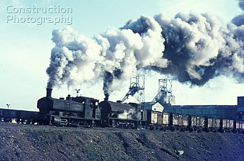 Polkemmet Colliery in West Lanark with their vintage Andrew Barclay 060ST No885 of 1900 piloting Aus