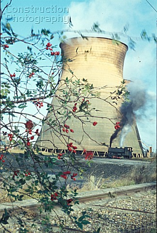 Goldington Power Station Bedford with one of their oil fired Andrew Barclay 040STs ED No9 at work on